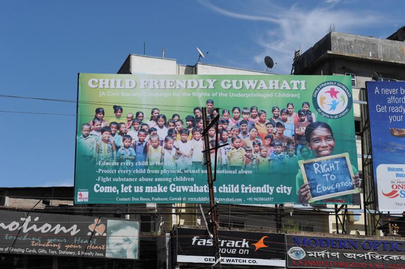 Seit 2007 kümmern wir uns um die Straßenkinder in Guwahati in vielfältiger Form – mit der Kampagne 'Child-Friendly-City' erfassen wir nun die ganze Stadt.
