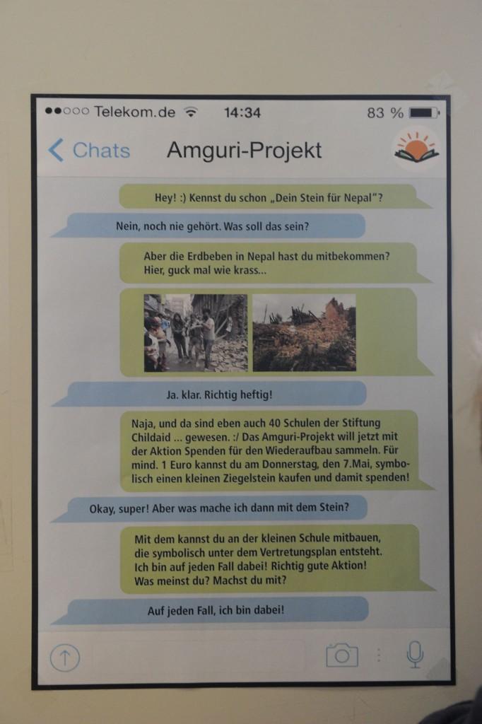 Ansprechend gestaltete Plakate hatten die Schüler zum Mitmachen motiviert.