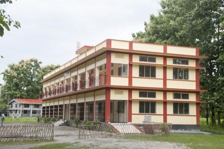 Childaid-Network-neues-Bildungszentrum-Barpeta-Road-Gebauede