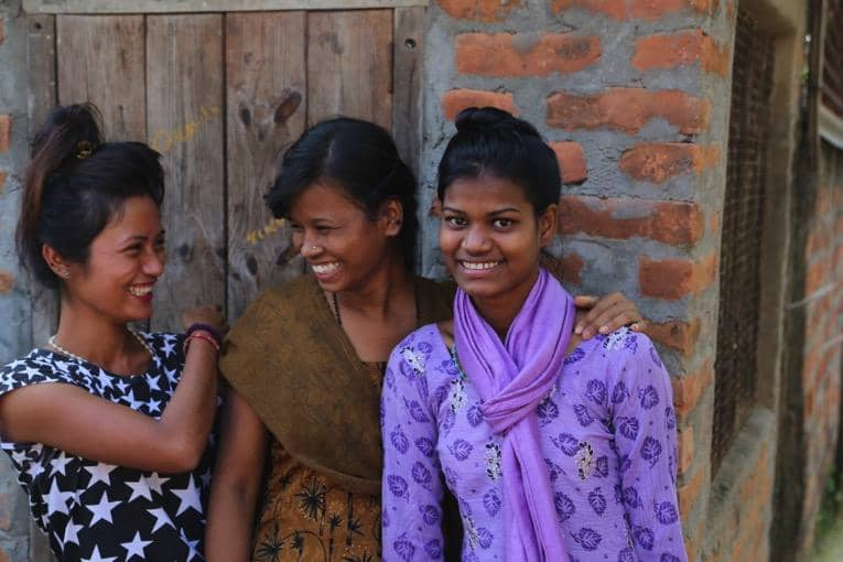 Pinky, Priya und Rita im November 2016