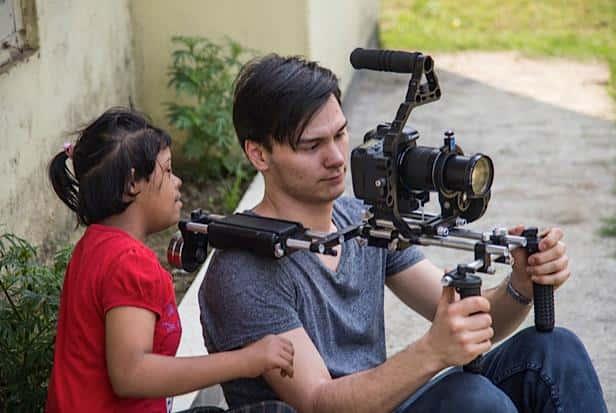 Filmer Andreas und Neha im März 2015