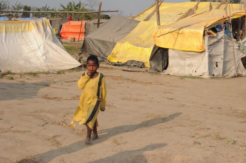 Nordostindien Assam Flüchtlingslager