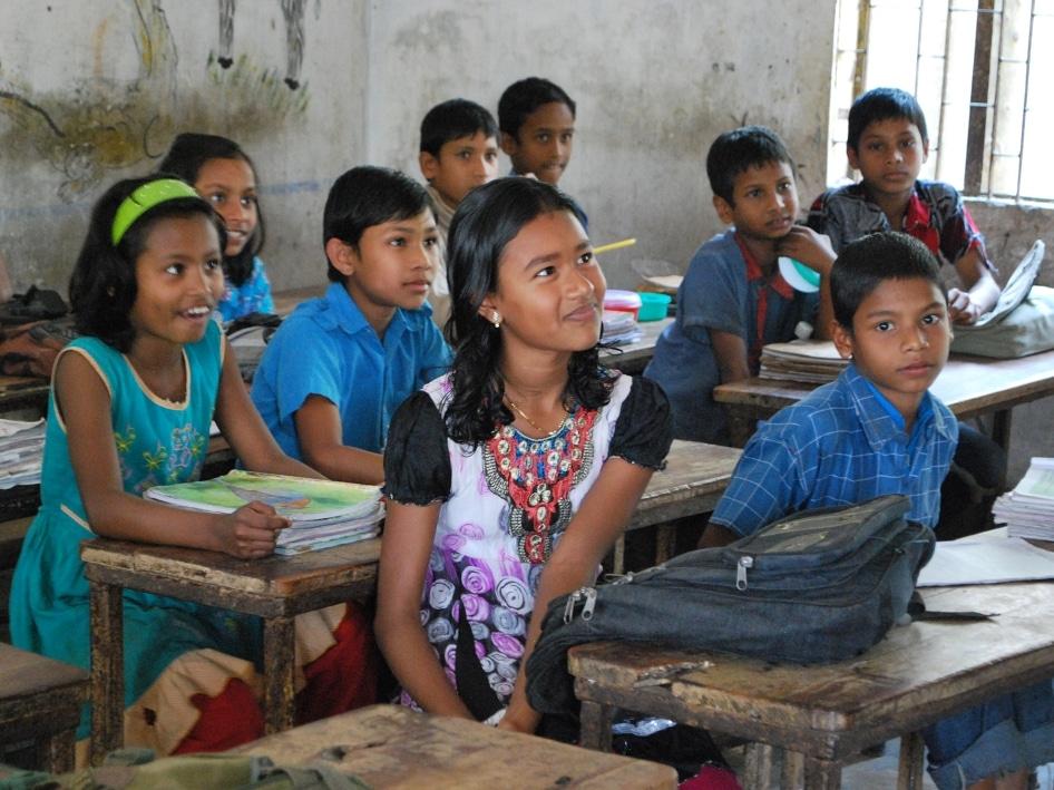 Schulzimmer in Bangladesch