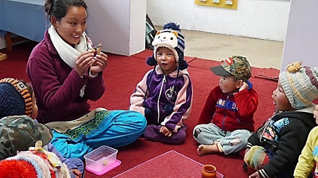 Montessori Kinderhaus Unterricht Vorschule